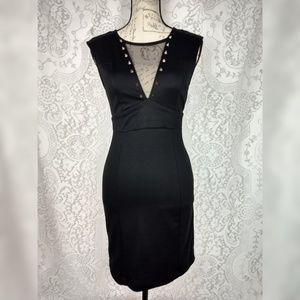 Ruby Rox Black Bodycon Cocktail Dress Size S